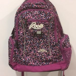 Roots Pink and Blue Backpack